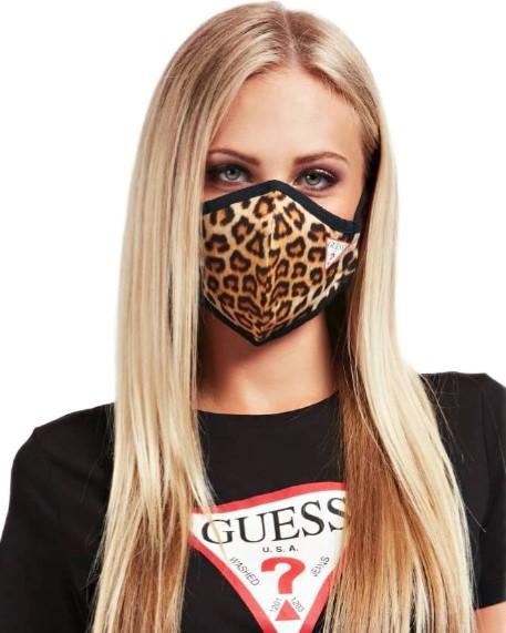 mascherina guess maculato donna