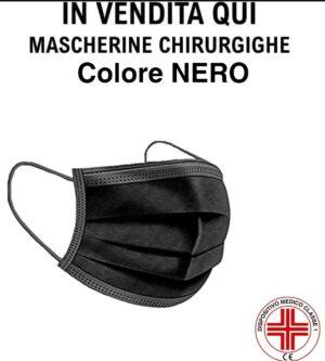 Mascherine chirurgiche colore nero